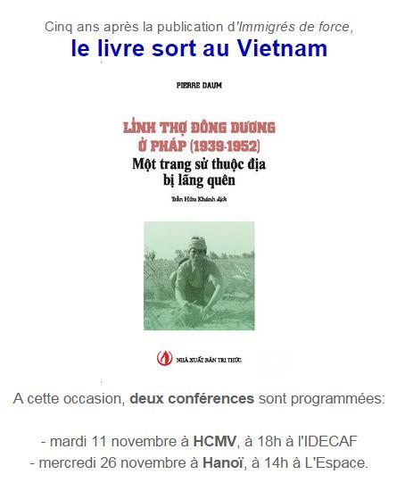 """Le livre """"Immigrés de force """" de Pierre Daum traduit en vietnamien"""