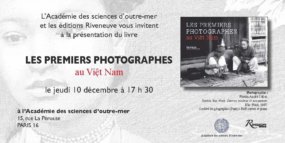 livre les premiers photographes du Vietnam