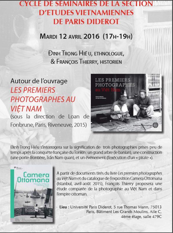 Conférence sur les premiers photographes au Vietnam